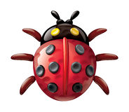 Ladybug illustration plasticine figurines Royalty Free Stock Photos
