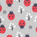 Ladybug inconsútil ilustración del vector