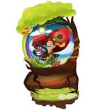 Ladybug_and_Kid Vektor Illustrationer
