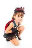 Ladybug kneeling Stock Image