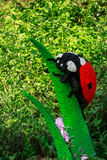Ladybug in lego in Planckendael zoo Royalty Free Stock Photography