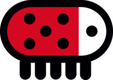 Ladybug Logo Abstract android. Robotic Royalty Free Stock Image