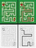 Ladybug maze Stock Photo