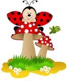 Ladybug on a mushroom Royalty Free Stock Photography