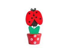 Ladybug paper clip. Made of wood Stock Photo