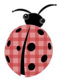 Ladybug with patchwork red shell vector cartoon Royalty Free Stock Photography