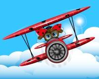 Ladybug on a plane Stock Images