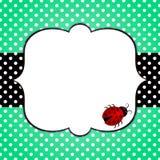 Ladybugs Border Frame With Clovers Stock Illustration ...