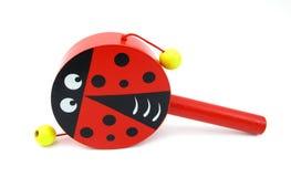 Ladybug rattle for children Stock Photos