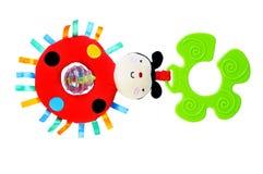 Ladybug rattle for kids. Isolated on white background Stock Images