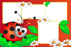 Ladybug scrapbook royalty free stock images