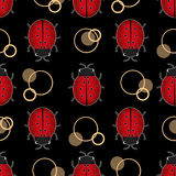 Ladybug seamless pattern Stock Photo