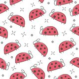 Ladybug seamless pattern, abstract texture. vector art illustration Royalty Free Stock Images