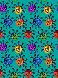 Ladybug seamless pattern Royalty Free Stock Photo