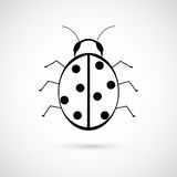 Ladybug sign Stock Photography