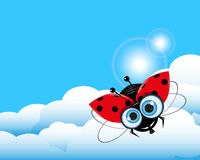 Ladybug in the Sky Royalty Free Stock Photos
