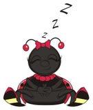 Ladybug sleeping. Smiling ladybug sleeping and letter z fly around royalty free illustration