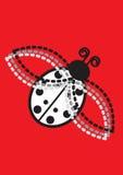Ladybug su colore rosso Fotografie Stock