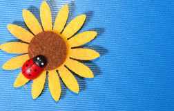 Ladybug on a sunflower Royalty Free Stock Photography
