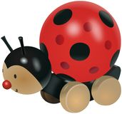 Ladybug toy on wheels Royalty Free Stock Photo