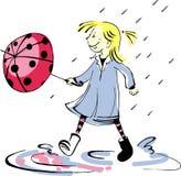 Ladybug umbrella stock illustration