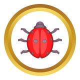 Ladybug vector icon Royalty Free Stock Photo