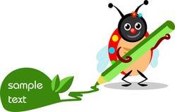 Ladybug write Royalty Free Stock Photo