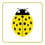 Ladybug yellow realistic cartoon icon Stock Photo