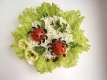 Ladybugs сделанные из томатов Стоковые Изображения