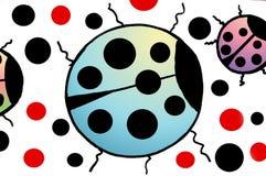 Ladybugs coloridos Fotografía de archivo