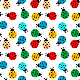 Ladybugs in colors seamless pattern Stock Photo