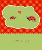 Ladybugs couple in love Royalty Free Stock Photography
