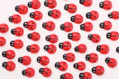 Ladybugs de madera fotografía de archivo