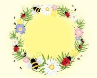 Ladybugs ed api Illustrazione Vettoriale