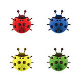 Ladybugs icons Royalty Free Stock Photos
