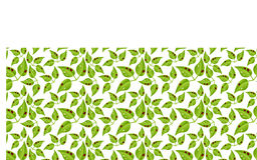 Ladybugs on leaf pattern Stock Photography