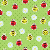 Ladybugs seamless pattern Royalty Free Stock Photography