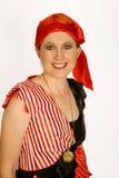 ladyen piratkopierar Fotografering för Bildbyråer