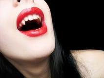 ladyen spela vamp Royaltyfri Bild