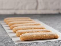 Ladyfinger μπισκότο μπισκότων savoiardi Στοκ Εικόνες