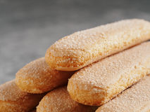 Ladyfinger τα μπισκότα μπισκότων savoiardi κλείνουν επάνω Στοκ εικόνα με δικαίωμα ελεύθερης χρήσης