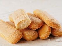 Ladyfinger τα μπισκότα μπισκότων savoiardi κλείνουν επάνω Στοκ εικόνες με δικαίωμα ελεύθερης χρήσης