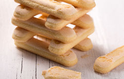 Ladyfinger biscuit cookie Royalty Free Stock Photography