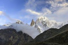 Ladyfinger peak, Hunza, Pakistan royalty free stock image