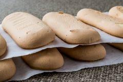 Ladyfinger or Savayer Cookies / Biscuits. Stock Photo