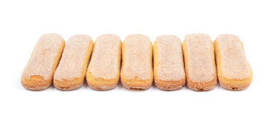 Ladyfinger savoiardi biscuit composition Royalty Free Stock Photography