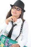 ladypoker Fotografering för Bildbyråer