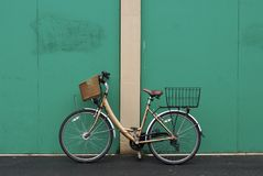 Ladys bicycle Stock Images
