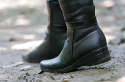 Ladys boots Royalty Free Stock Photos