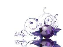 Ladys Soccer ball Royalty Free Stock Photo